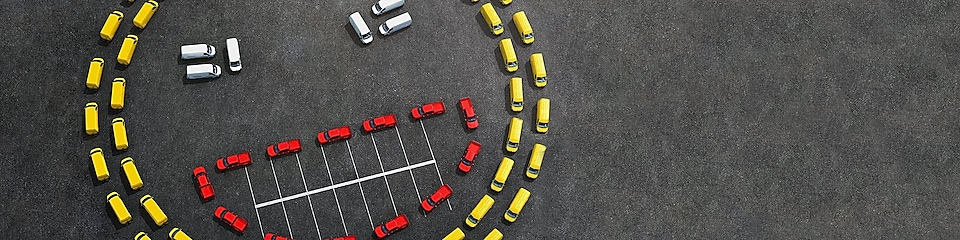 smiley made out of cars
