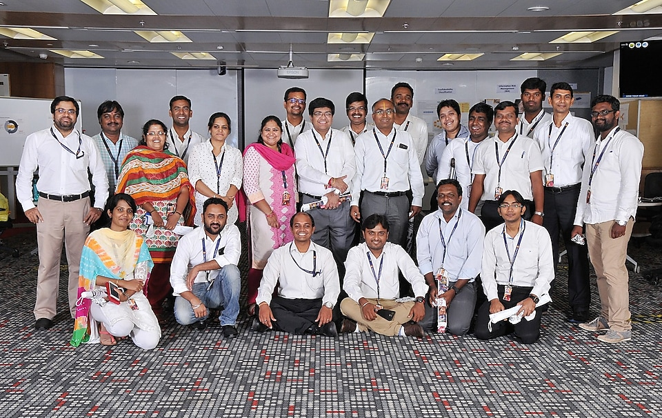Subapriya Guruprasad in team photo at the Ethics & Compliance event