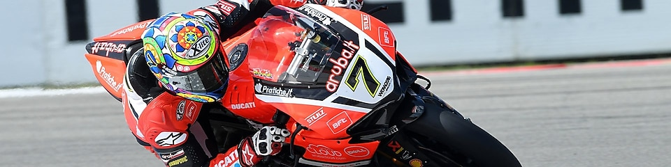 Ducati rider racing superbike in the superbike world championship
