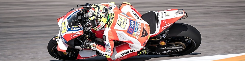 Ducati rider racing in the motogp