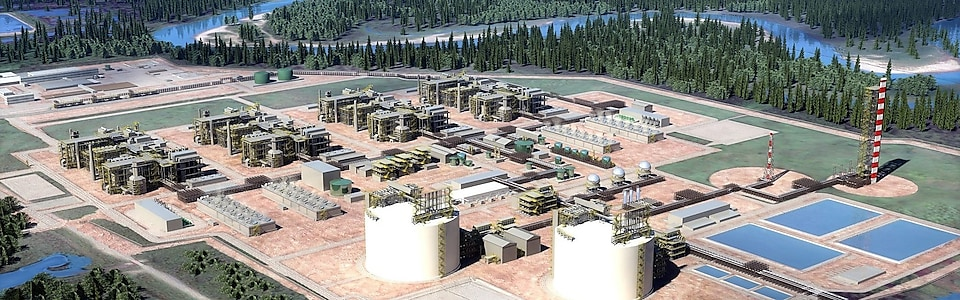 LNG Canada site rendering